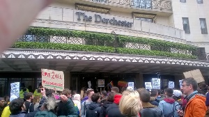 Dorchester Hotel demonstration